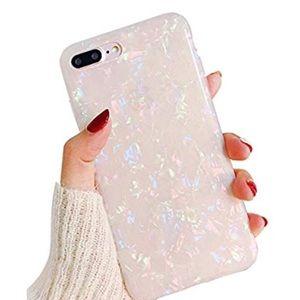 White AB colored iPhone 8 Plus 7 plus case